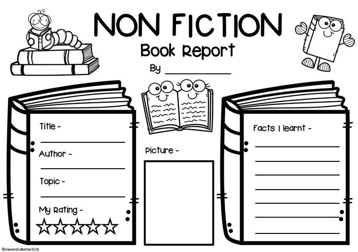 Non Fiction Book Report Worksheets & Graphic Organizers in