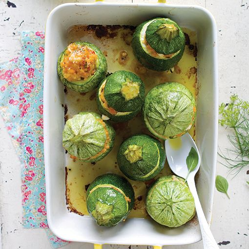Stuffed Zucchini from �My French Family Table� for Bastille Day