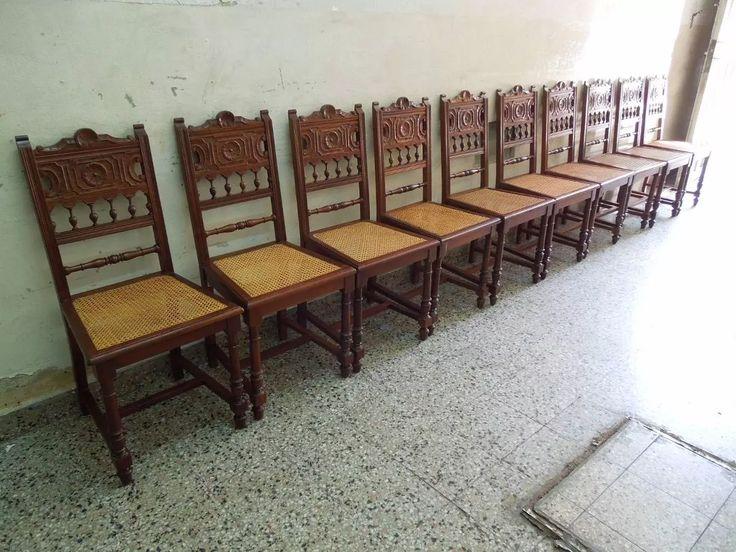 juego 12 sillas renacimiento ingles comedor quincho living.
