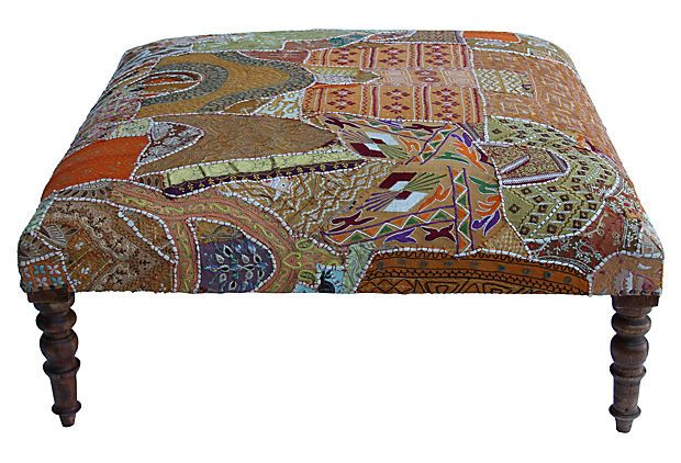 Antique Tapestry Ottoman On Onekingslane Com Benches