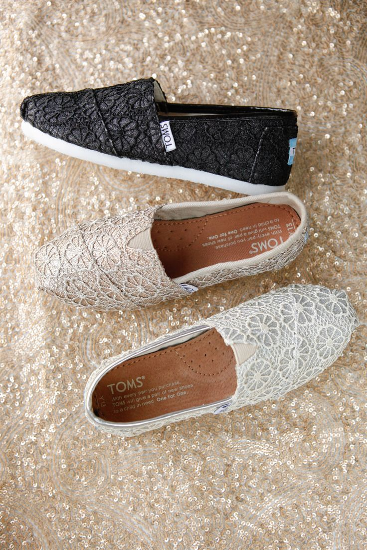 Your little one will be getting their shine on in TOMS crochet glitter Classics for kids.