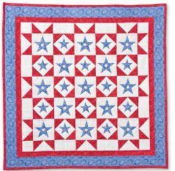 Patriotic Stars Quilt: Favequilts Com, Quilts Patterns, Stars Quilts, Cozy Country Quilts, Appliquéd Stars, Quilts Stars, Accuquilt Stars, Inspiration Quilts, Patriotic Stars