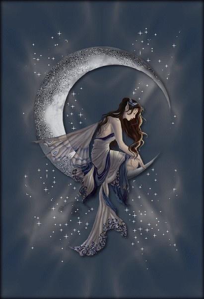 cresent moon fairy: Angel, Moon, Fantasy Art, Faeries,  Hippopotamus Amphibius,  Rivers Horse, Nene Thomas, Moon Fairies, The Moon