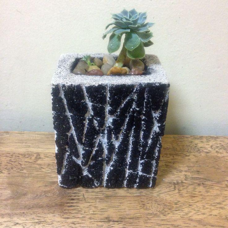 Hebel stone planter pot