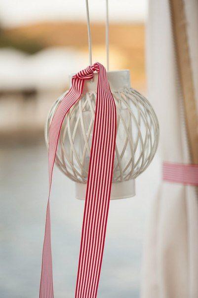Στολισμός γάμου με θέμα θάλασσα , φαναρακι κρεμαστό