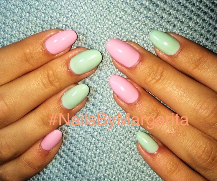 Meer dan 1000 ideeën over Summer Nails Almond op Pinterest ... Almond Nagels
