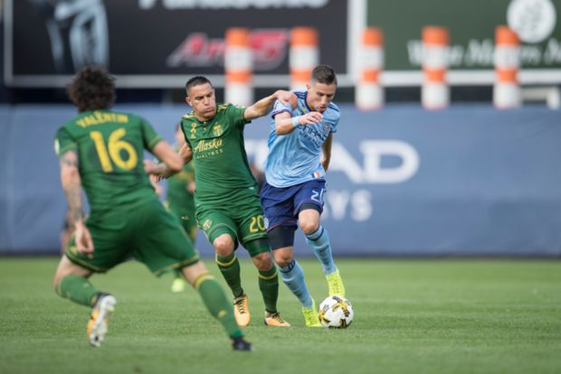 Diego Valeri vaulted the Portland Timbers into first place in the Western Conference standings as he scored the game-winning goal to lead Portland (12-9-8, 44 points) to a big 1-0 win over New York City FC (15-8-5, 50 points) at Yankee Stadium Saturday.