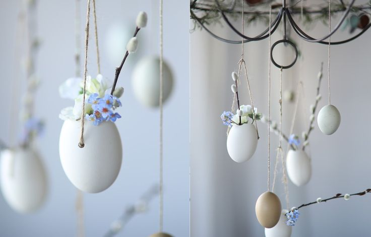 Shop Faux Sweet Pea Stem, Hanging Goose Egg Planters, Set of 4, Pussy Willow Branches and more