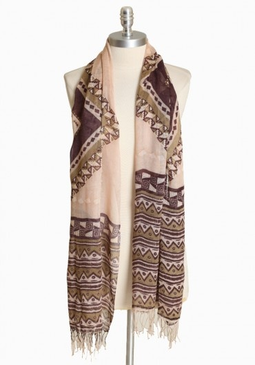 Great scarf for Spring! Mojave Aztec Print Scarf, $16 via ruche