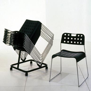 OMK Design 'Omkstak' stacking chair from 1971