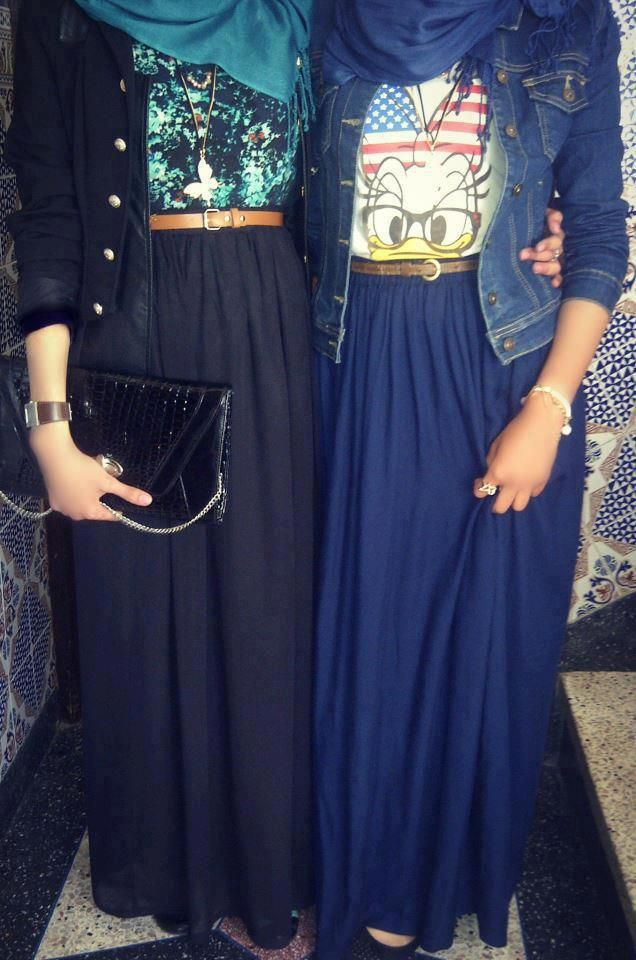 Jacket + scarf + graphic tee + belt + maxi skirt = fall maxi style #hijab #hijabi #fashion