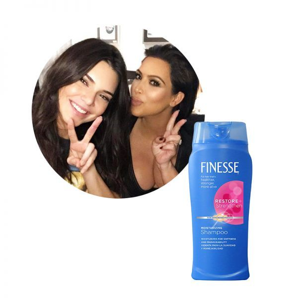 Kendall Jenner and Kim Kardashian - The celebrity sister duo keeps their hair flawless and moisturized with thisFinesseshampoo.