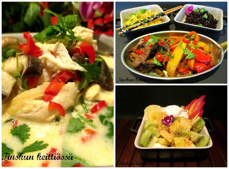 Thaimaalainen menu talvipäivän iloksi: Tinskun keittiössä