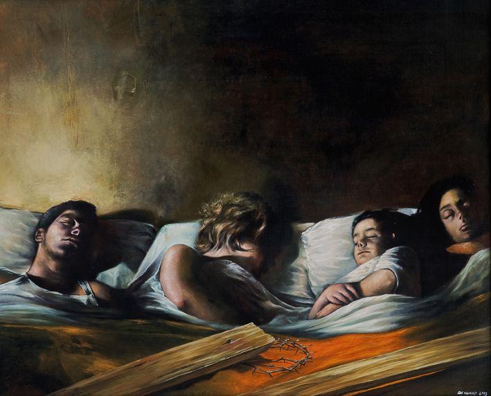 Voci di notte - olio su tela - cm 80x100 - 2013