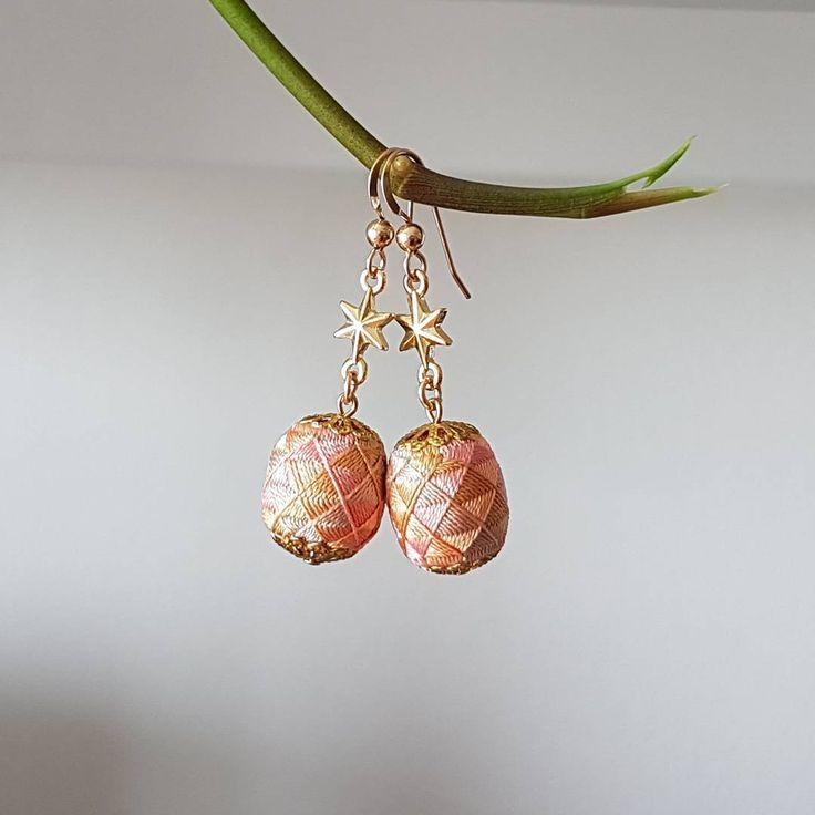 パステルカラー第2弾 #加賀ゆびぬき #加賀ゆびぬきアクセサリー #handmadeearrings #handmadejewelry #etsyseller