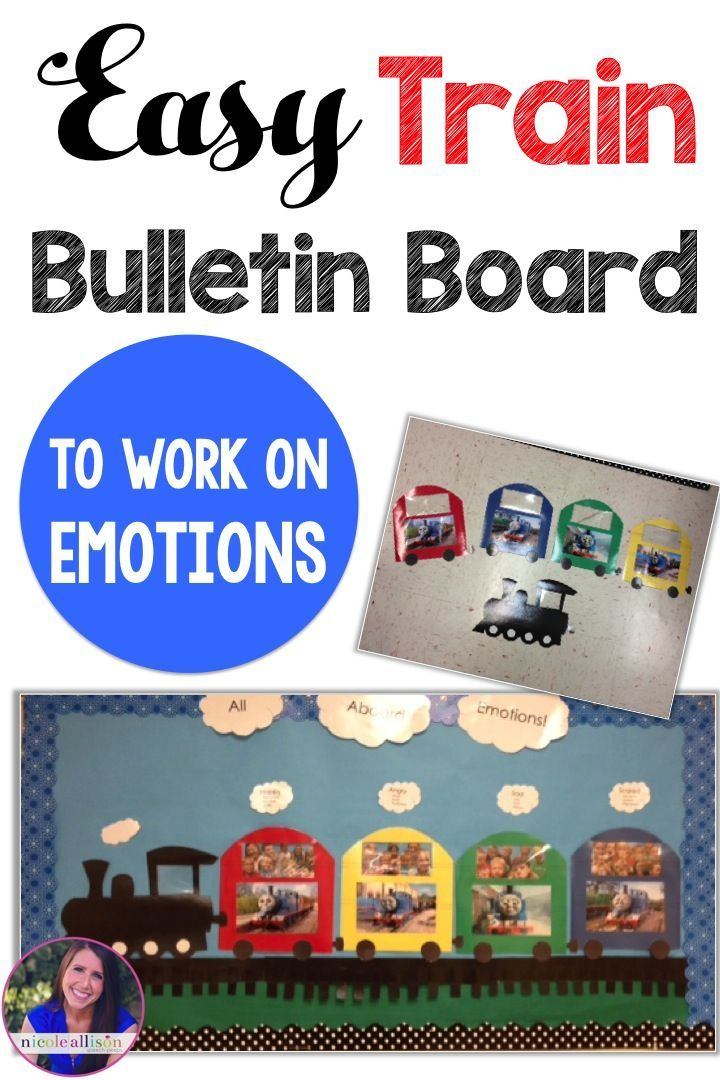This easy train bulletin board is perfect for working on identifying emotions!