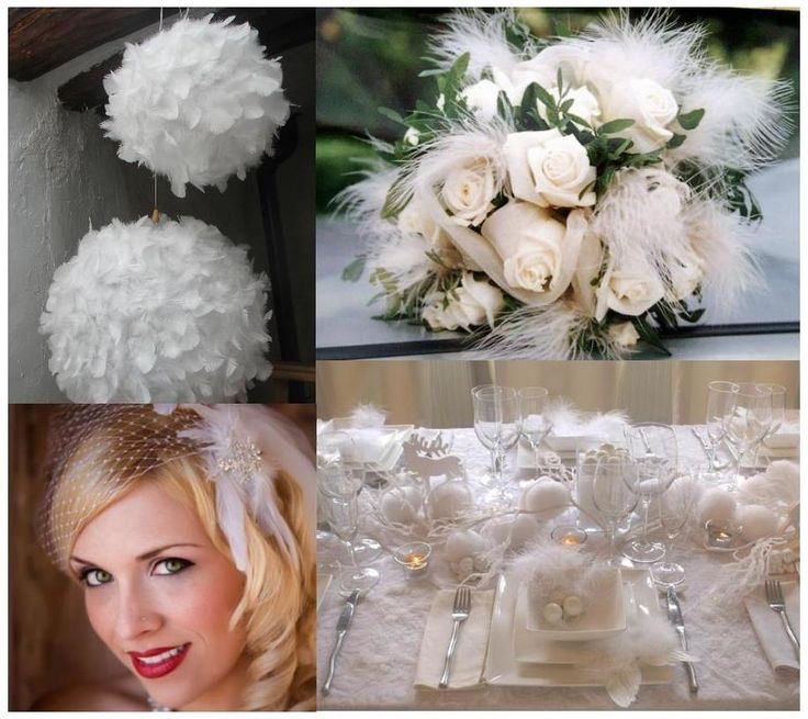 wedding decoration pictures | White feather wedding decoration | Weddings on the French Riviera