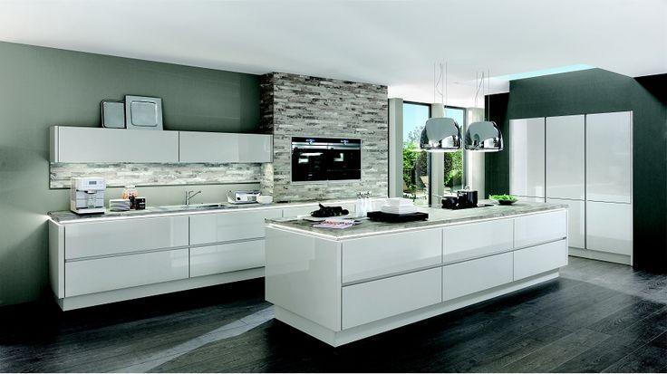 Nobilia Glänzende Perspektiven! Küche Lux 819 Lack, Seidengrau - nobilia küchen günstig kaufen