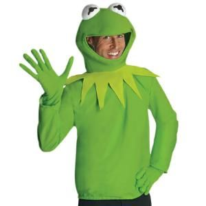 Adult Kermit The Frog Sesame Street Muppet Costume   at Nightmare Factory