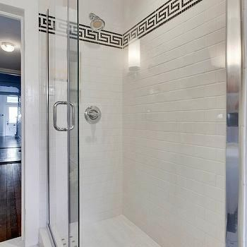 Greek Key Tile Trim, Contemporary, Bathroom, MA Allen Interiors Greek Key  Border Shower