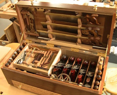Tool Chest with Millers Falls planes, love the saw till too!