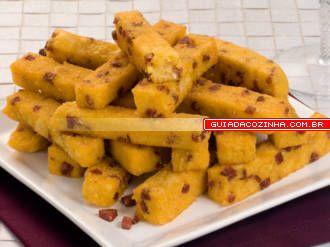Receita de Polenta frita à calabresa