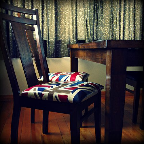 Union Jack recovered chairs!