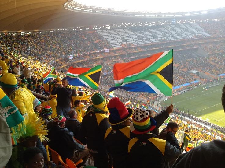 Johannesburg, South Africa. Opening match of Football World Championships, 2010.