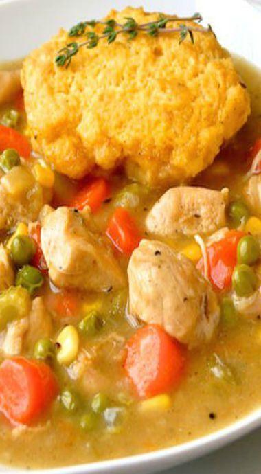 chicken stew with cornbread dumplings