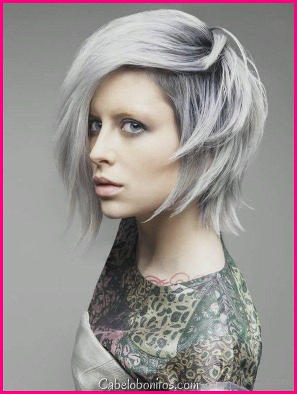 Encantador 20 penteados cinza mais quentes para mulheres legais   – Penteados Coloridos