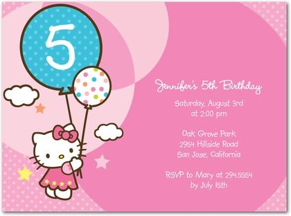 Hello Kitty Baby Shower Thank You Card