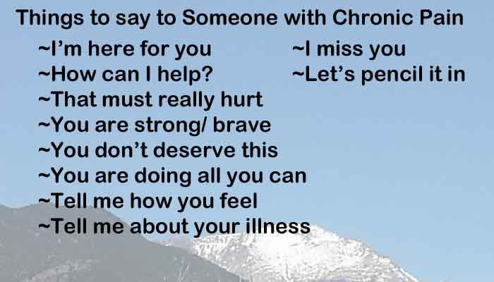 Dating someone with chronic pain