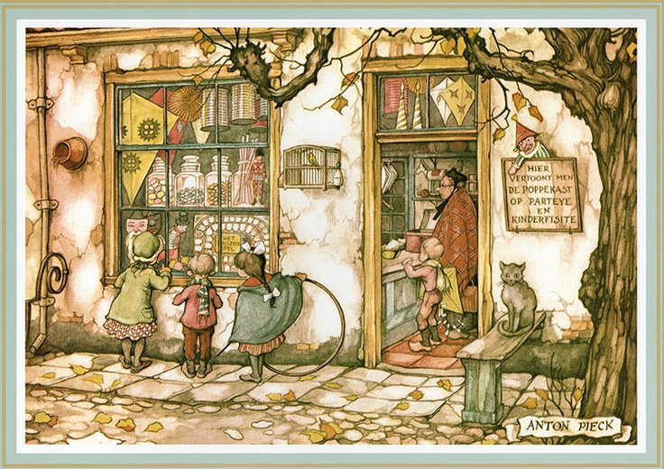 353 best images about the world of anton pieck on - O jardin des delices ...