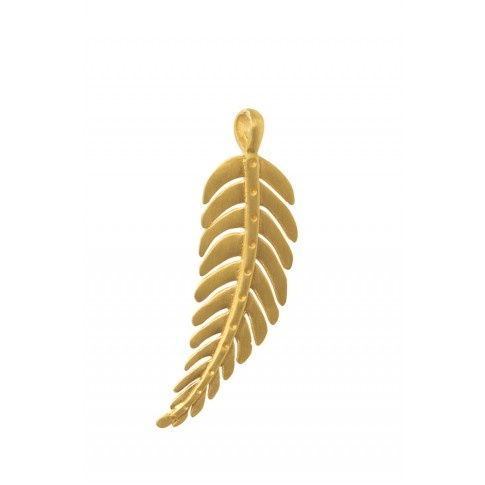 "Stella & Dot Signature Leaf Charm--Gold  Wearing this with a 24"" chain to the rehearsal dinner"