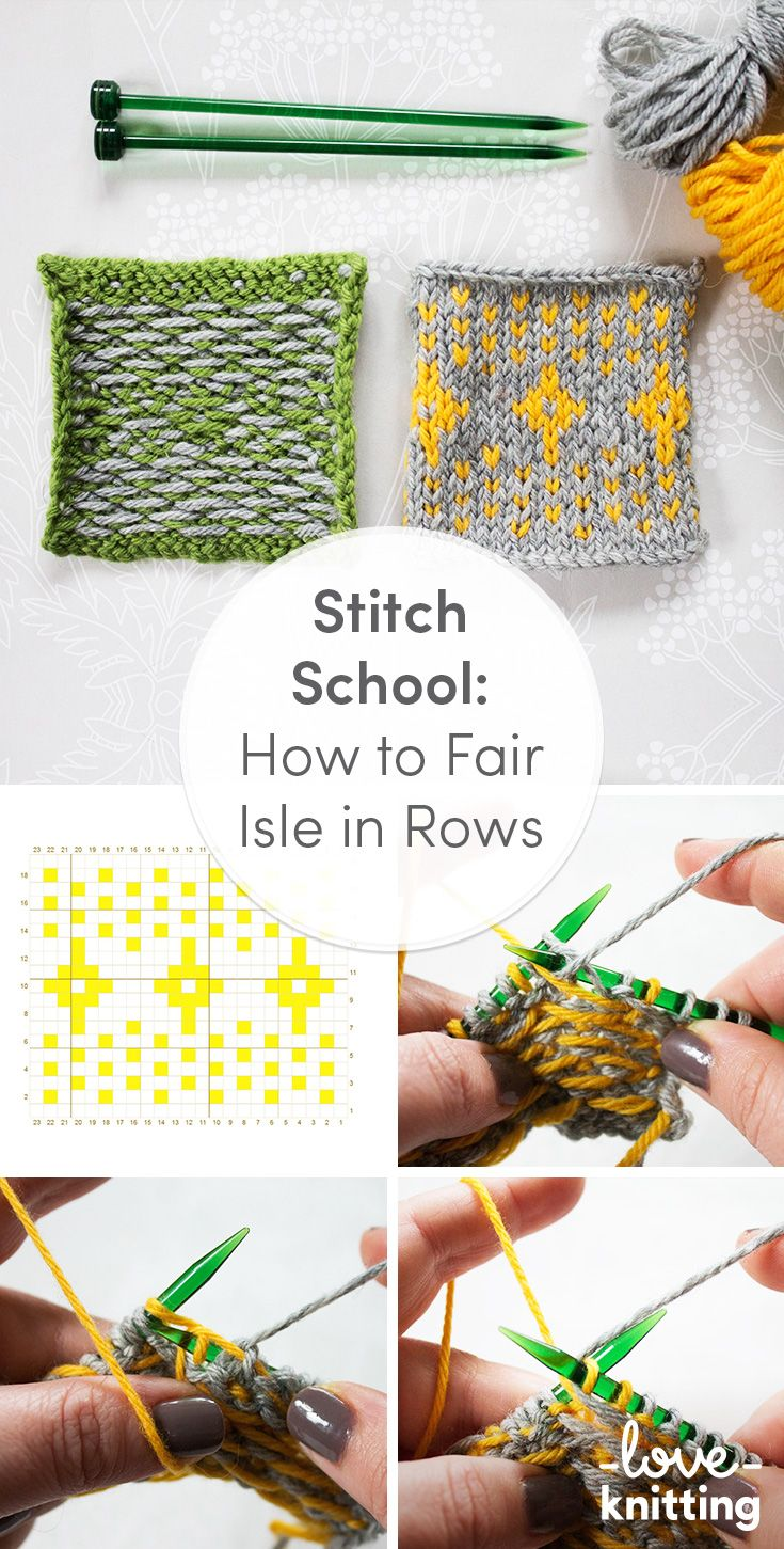 How to knit Fair Isle in rows. Our handy step-by-step FREE tutorial for knitting fairisle in rows, on the LoveKnitting blog.