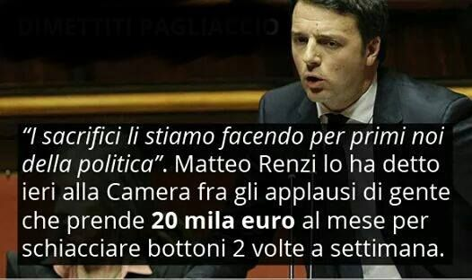 Renzi show MA MI FACCIA IL PIACERE! !! RENZI : LEI È UN CRETINO, S'INFORMI! !!!