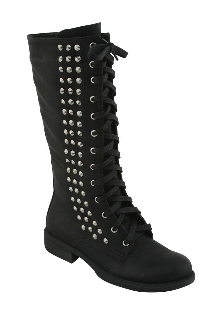 Boots fashion pic boots clip art - Extreme By Eddie Marc Lisa Studded Combat Boot On Hautelook