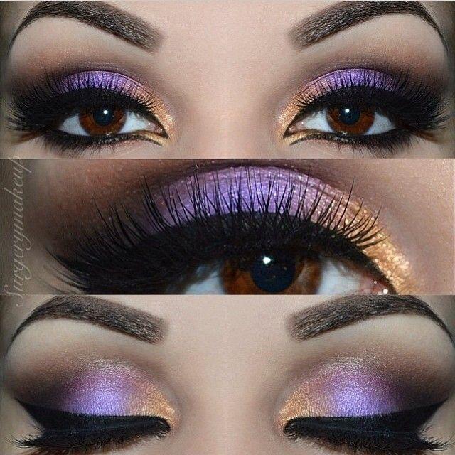 Purple and gold smokey