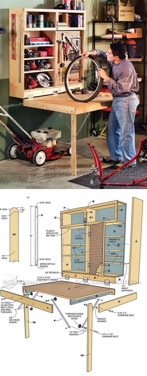 Fold Down Workbench Plans - Workshop Solutions Projects, Tips and Tricks   WoodArchivist.com