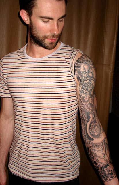 109 best celebrities tattoos images on pinterest for Adam levines tattoos