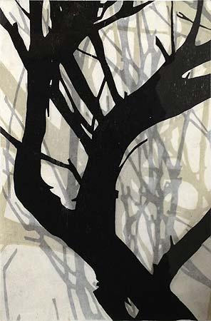 Helen Mueller, 'Requiem Study 12' 2013, woodblock print, overlayed - unique, 38 x 26cm