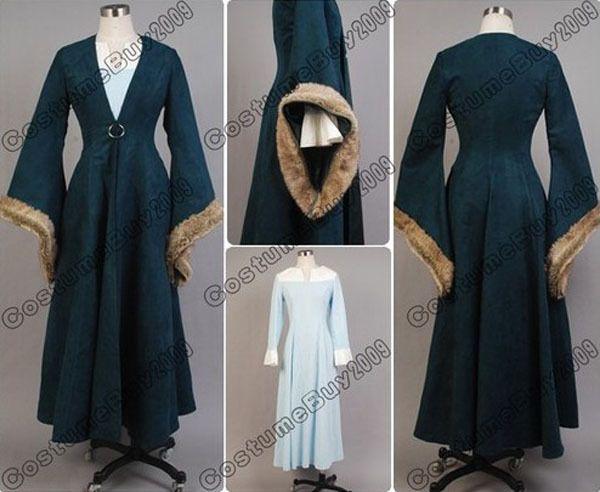 New Arrival Custom Made Game of Thrones Catelyn Stark Cosplay Costume Dress For Halloween $220.00