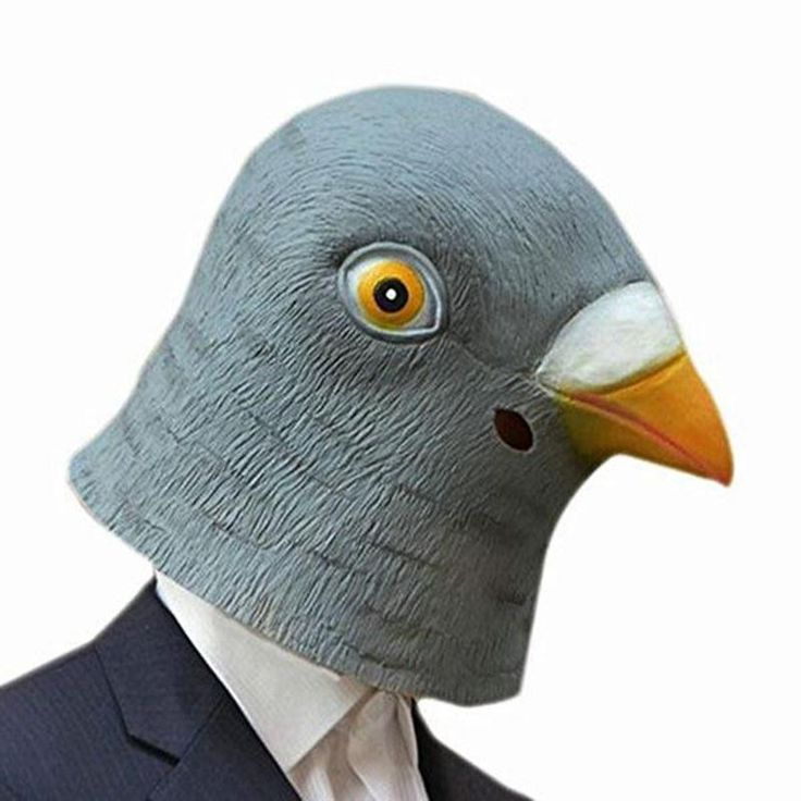 Creepy Latex Prop Pigeon Head Mask Breathable Halloween Masquerade Fancy Dress Party Cosplay Costume Lovely Animal Mask