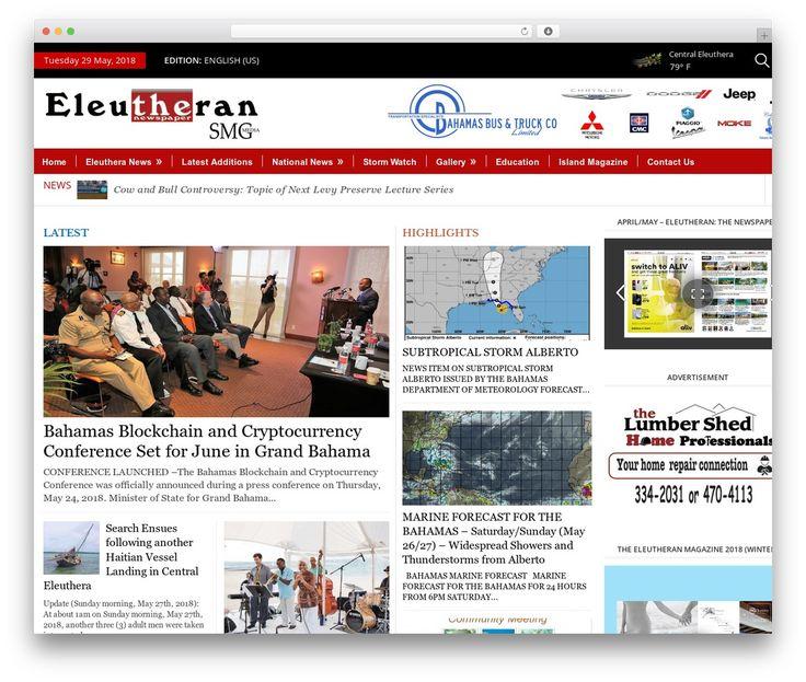EleutheraNews best WordPress magazine theme - thee… | WordPress ...