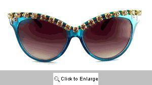 Fantasia Rhinestone Sunglasses - 272 Blue