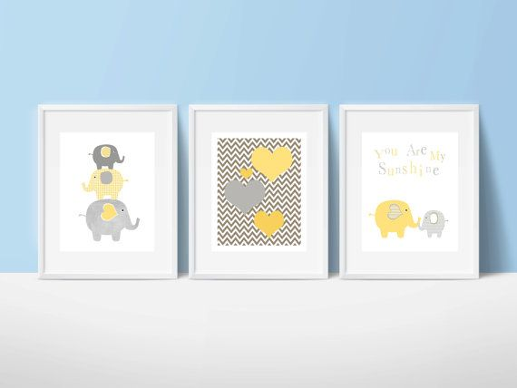 Elephants nursery art instant download by PinkMilkshakeDigiArt