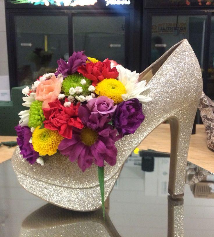 High heels floral arrangement