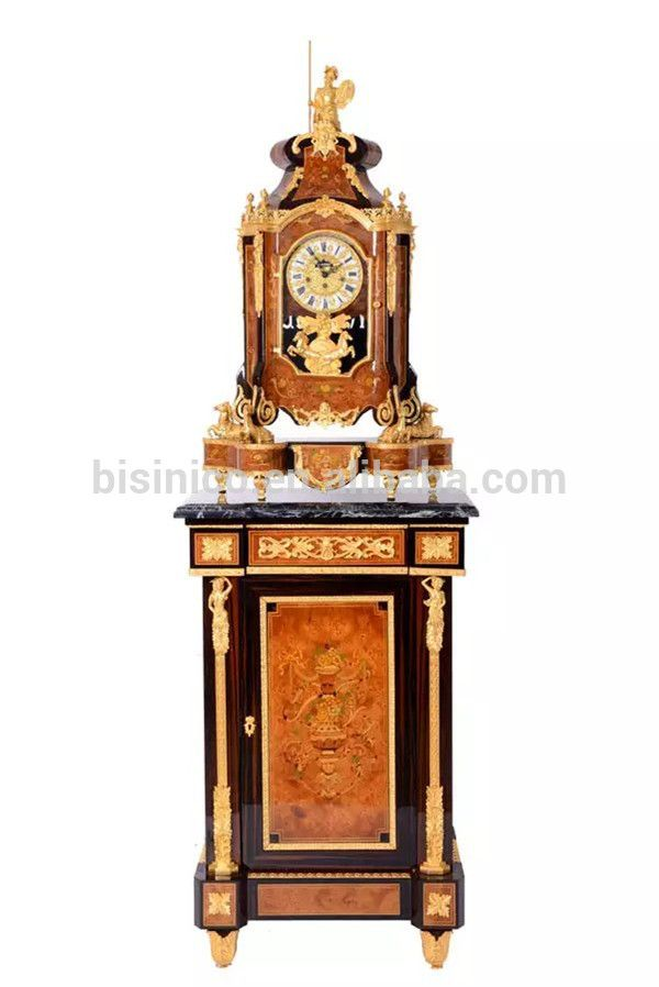 European Style Antique Wooden Table Clock With Table Luxury Brass Mouthed Clock For Home Decor View Wooden Fl Antique Flooring Table Clock Porcelain Flooring