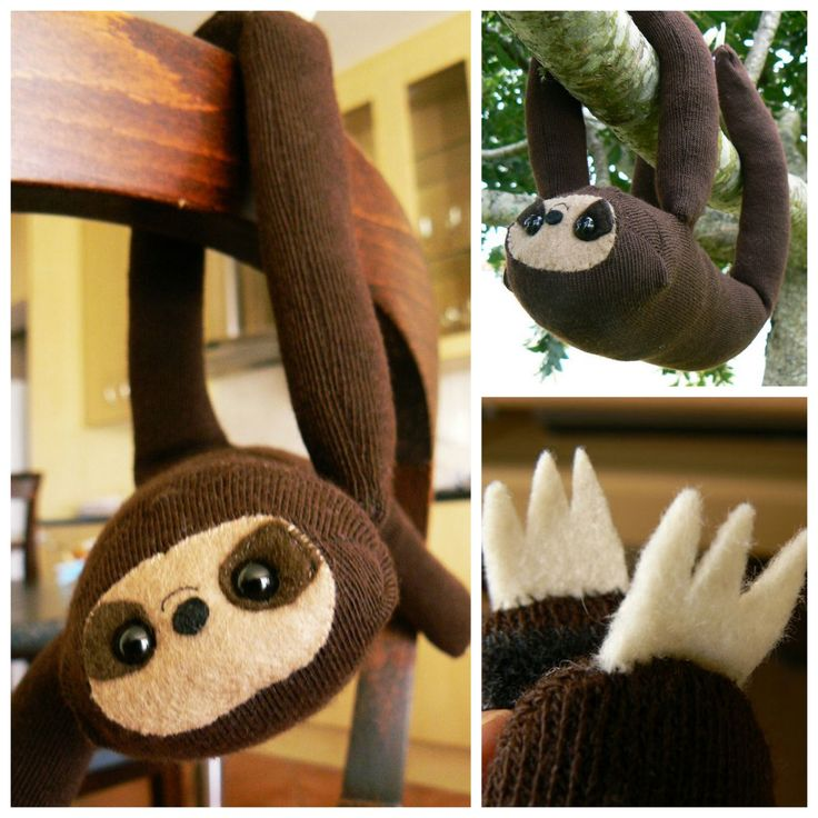 DIY Easy Sock Sloth Tutorial from Instructables...   True Blue Me & You DIYs for Creatives
