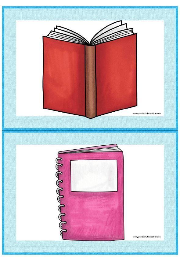 Themenpaket Schulsachen Englisch Grundschule Lernkarten Spiele Frei …